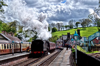 The Steam Train Departing at